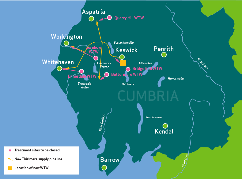 Map Of Cumbria